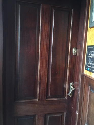 door to a pub